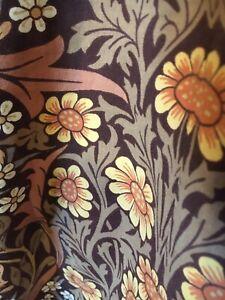 "Vintage William Morris ""Blackthorn"" Sanderson Cotton Lined  Curtain"