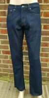 "Men`s New DEBENHAMS Straight Leg Jeans 42"" Waist 32"" Leg Indigo Blue - RRP £30"