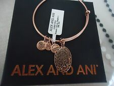 Alex and Ani Because I Love You DAUGHTER II ROSE GOLD Bangle W/ Tag Card & Box