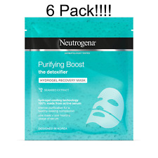 6 x Neutrogena Purifying Boost Hydrogel Recovery Mask, 30 ml