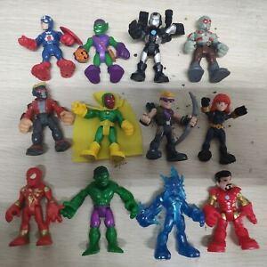 12pcs Playskool Marvel Super Hero Adventures Drax Start Lord Vision Black Widow