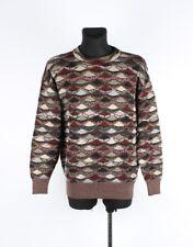 Missoni Cuello Redondo Vintage para hombres Auténticos multicolores Suéter Talla EU50 UK40