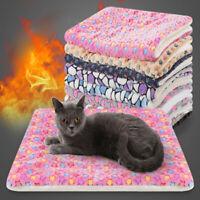 Pet Mat Paw Print Cat Dog Puppy Fleece Soft Warm Blanket Bed Cushion Mattress