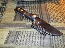 Custom Leather Sheath Fits MORA GARBERG &  Kansbol Knife, RH  Dangle,  Ferro Rod
