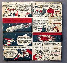 scarce 1940's SUPERMAN & THE SECRET ROCKET BOMB! Kellogg's Pep Cereal box back