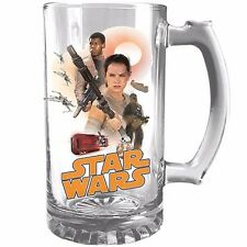 122887 STAR WARS CHARACTER GROUP SHOT 500ml STEIN GLASS IN BOX THE FORCE AWAKENS