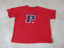 VINTAGE Ralph Lauren Polo Sport Shirt Adult 2XL XXL Red Blue Spell Out Mens 90s