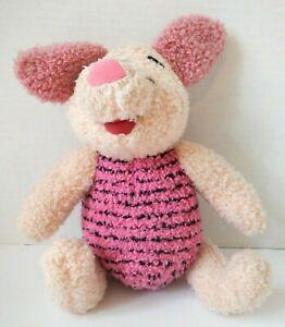 "(SEE VIDEO) 11"" Vintage Mattel 1998 Disney Piglet Singing & Giggling Plush Doll"