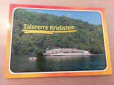 Postkarte Passagierschiff MS Hainichen  Falkenhain Talsperre Kriebstein ungel_
