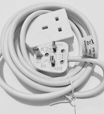 1 WAY GANG 3M Power Mains EXTENSION LEAD British Approved 13A Amps 1 SOCKET New