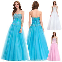 Eleagnt Long Bridsmaid Wedding Formal Dress Evening Party Prom Pageant Ball Gown
