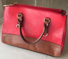 Fashion Woman Premium Leather red/brown handbag