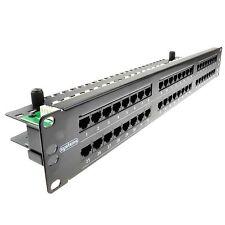 I sistemi 48 Porta Pannello patch di rete Cat5e RJ45 19 in (ca. 48.26 cm) Horizontal RACK MOUNT UK