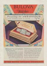 1929 Bulova Wrist Watches PRINT AD Ambassador At Jewelers Rare