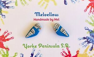 Blue Budgie studs Melvellous earrings
