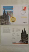 Numisbrief Spanien 2016 - 2 €-Münze Kathedrale von Burgos+Briefmarke Juan Carlos