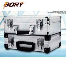 Silver Aluminum Hard Briefcase Business Office Laptop Suitcase Outdoor Toolboxes