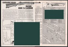 1979 RUGER Mini-14 Carbine Exploded View~Parts List~2-pg Assembly Article