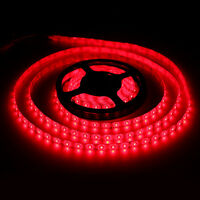 Super Bright 5M Red SMD 5630 300LED Strip Light Flexible IP65 Waterproof DC12V