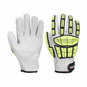 Portwest A745 Impact Protection Pro Cut Leather Durable Cut Resistant Glove Grey