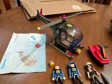 PLAYMOBIL 5764 POLICE HELICOPTER & JET SKi SET Nice Not complete