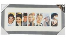 Large Aluminium Silver Photo Aperture Picture Frame With Friends Mount 7 Photos