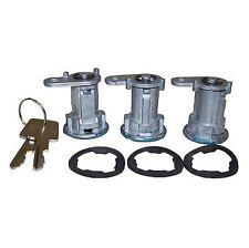 Crown 8122874K3 - Door Lock Cylinder Kit for Jeep XJ/CJ/MJ/YJ