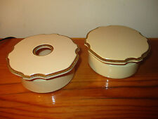 carleton powder holder manicure box bakelite Two (2) Celluloid Dresser Set