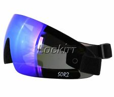 Sorz Skydive Action sport Foam Insulated Goggles Jet Blue Mirror Lens