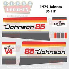 1979 Johnson 85 HP V4 Sea-Horse Outboard Reproduction 14 Pc Marine Vinyl Decals