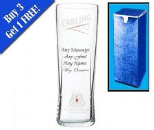 Personalised Engraved Carling Pint Glass Birthday Wedding Usher Xmas Gift