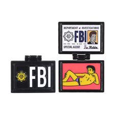 The Simpsons Enamel Pins X-Files FBI Fox Mulder ID Card wallet Brooches Jewelry