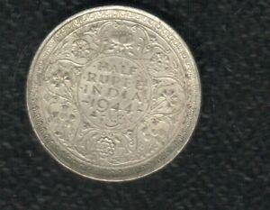 INDIA  HALF RUPEE 1944 SILVER