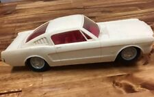 Vintage 1966 ? MUSTANG Fastback Plastic FORD White Toy Car PARTS