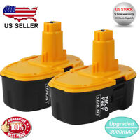 2 NEW 18V DC9096-2 for Dewalt Battery 3.0Ah DC9091 DC9099 DW9098 Cordless Drill