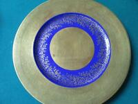 1940s GOLD ENCRUSTED AND BLUE KOBALT PLATE BY HEINRICH, BAVARIA, GERMANY[167]