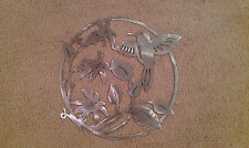 "Hummingbird wall art 14"" wide decor steel elegant HB1"