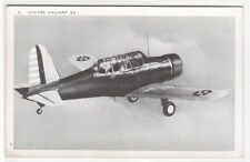 Vultee Valiant 54 Basic Trainer Aircraft Plane US Army Air Force WWII postcard