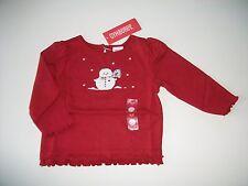 NWT Gymboree MOUNTAIN CABIN Red Snowman Snow Snowflake Shirt Top Sz TWINS 3-6 mo