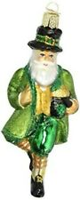 Old World Christmas 40201 Glass Blown Irish Santa Ornament