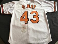 Rudy May Baltimore Orioles Signed Custom Jersey JSA WPP