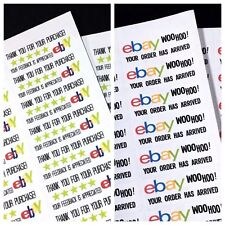 eBay Branded 120 COUNT Seller Package COMBO Shipping Thank You Sticker Labels