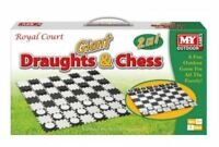 2 in 1 Giant Draughts and Chess Set Game - Fun Summer Family Garden Toy Activity