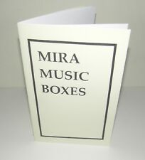 Mira Music Music Box Advertisement Brochure Reproduction