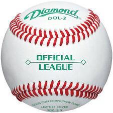 Diamond Dol-2 Official League Leather Baseballs 12 Ball Pack