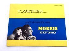 1959 Morris Oxford Original UK Original Car Sales Brochure