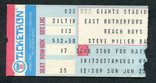 1978 Beach Boys Steve Miller Concert Ticket Stub Giants Stadium Ny Surfin Safari