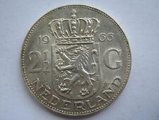 Netherlands 1966 silver 2 1/2 Gulden NEF
