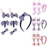 KQ_ KE_ AU_ ITS- 7Pcs/Set Baby Toddler Kids Girl's Bow Headwear Hairpin Hairband