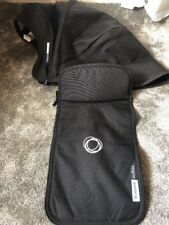 Bugaboo BUFFALO Black TAILORED FABRIC SET - 2in1 Canopy and apron - USED